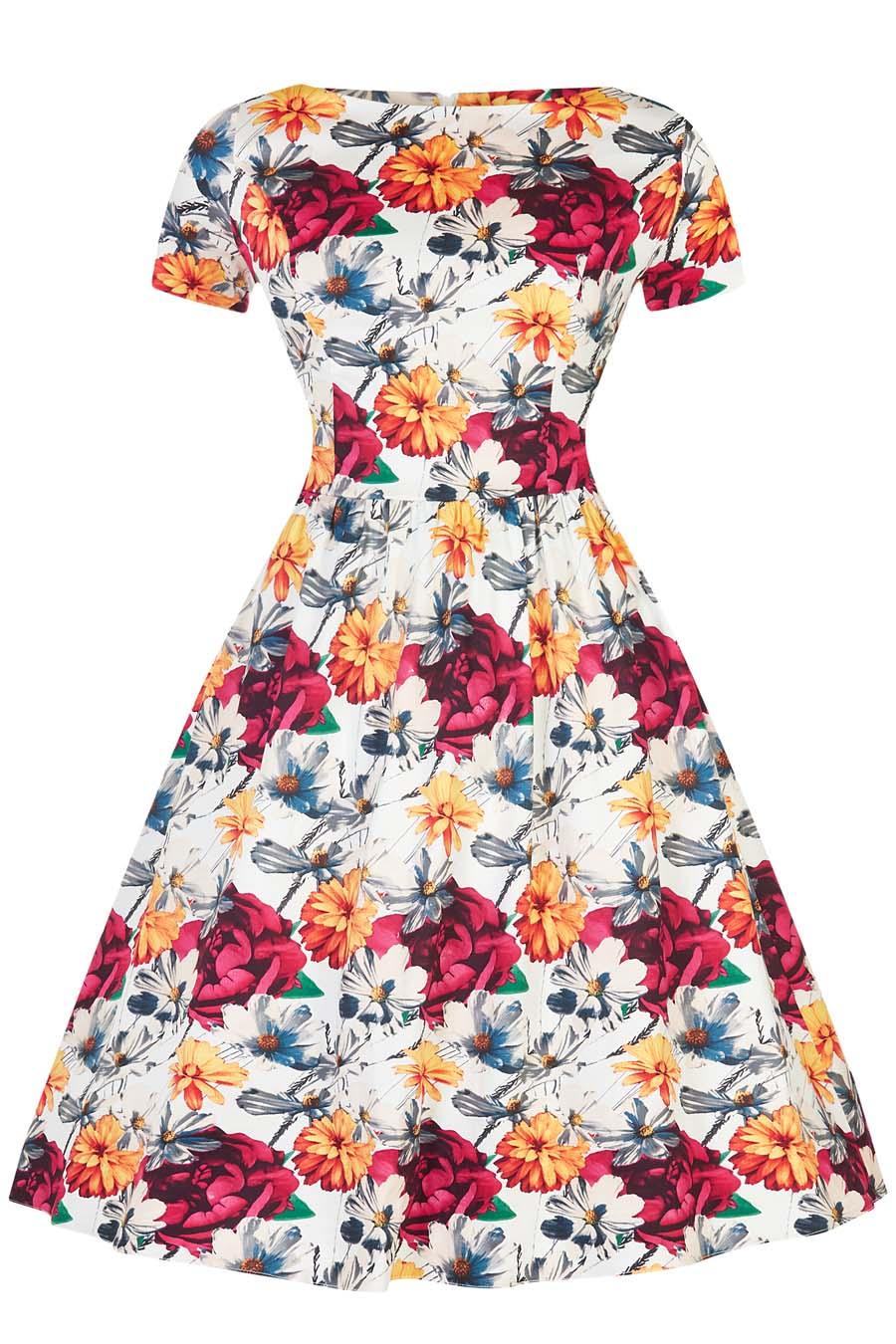 bb26d6537241 Lady Vintage Eloise Kvetinové Šaty - JoyStore.sk