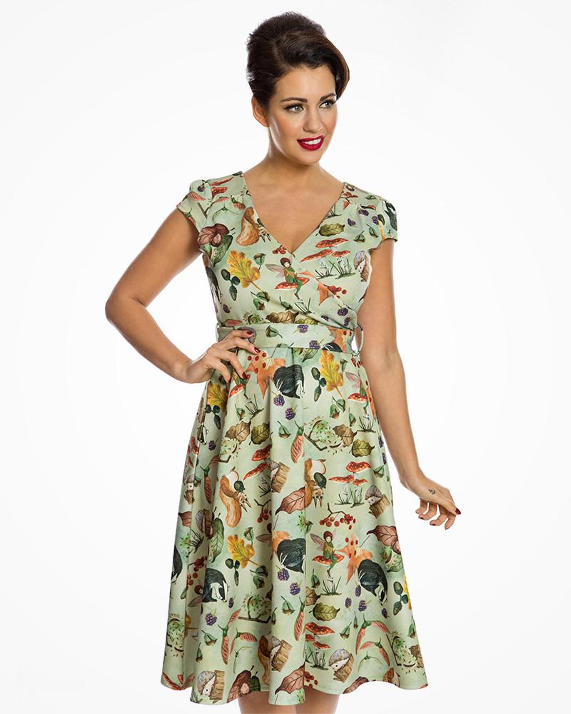 Lindy Bop Dawn Zelené Šaty S Motívom Lesa - JoyStore.sk f6ef6acc21
