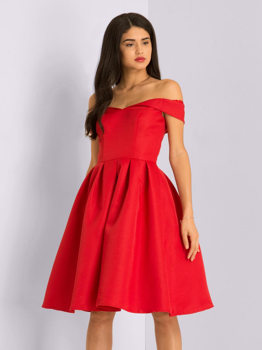 cbc65e81a1ed Chi Chi Jade Červené Spoločenské Šaty - JoyStore.sk