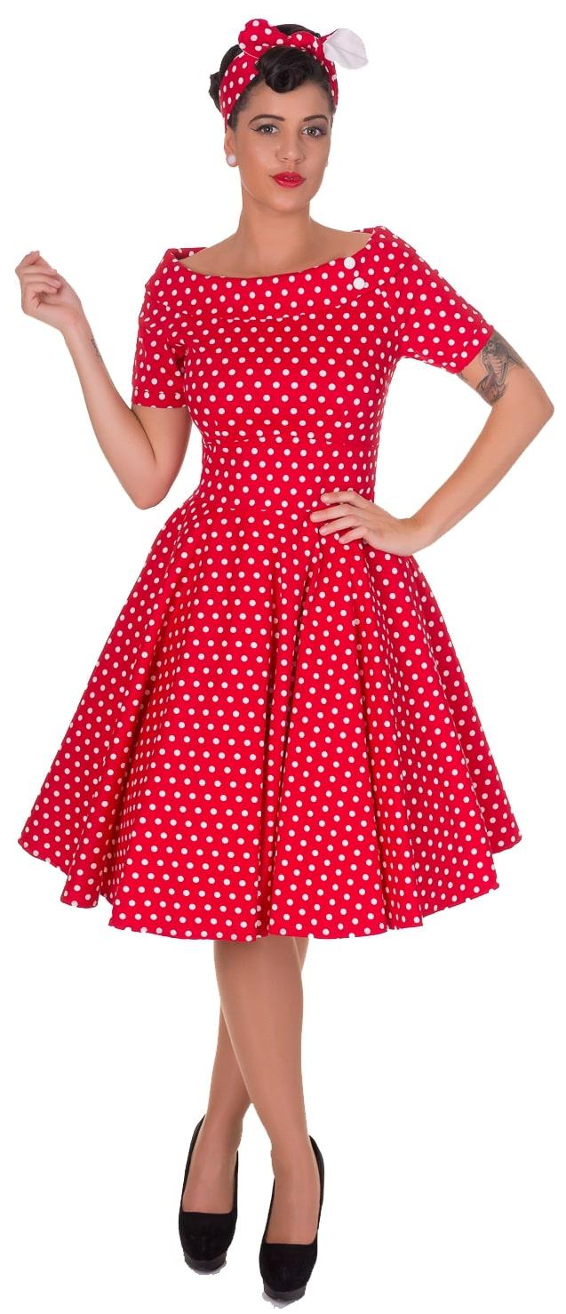 Dolly and Dotty Darlene Červené Bodkované Šaty - JoyStore.sk f9d67cd238e