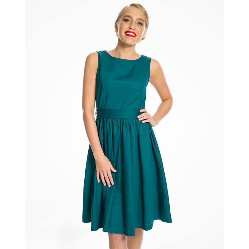 057b660701b6 Lindy Bop Audrey Tmavo-Zelené Šaty - JoyStore.sk