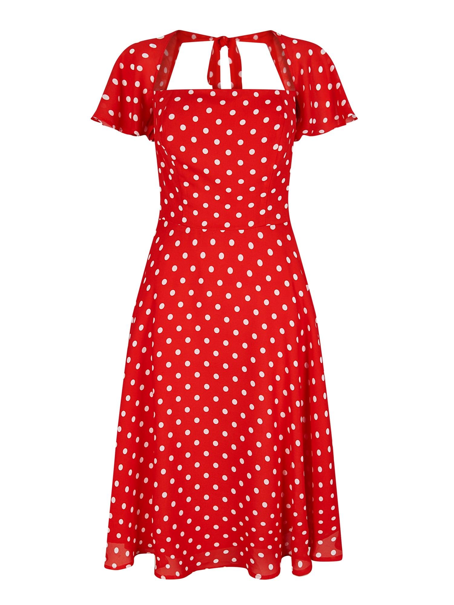 87225c04fb24 Collectif Juliet Červené Bodkované Šaty - JoyStore.sk