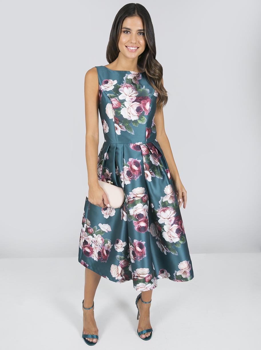 4c0a1f1cb40d Chi Chi Bryony Zelené Šaty S Kvetmi - JoyStore.sk