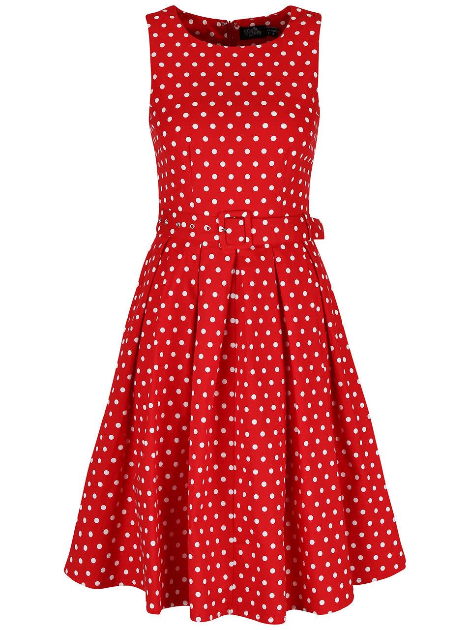 29b996d60351 Dolly and Dotty Lola Červené Bodkované šaty - JoyStore.sk