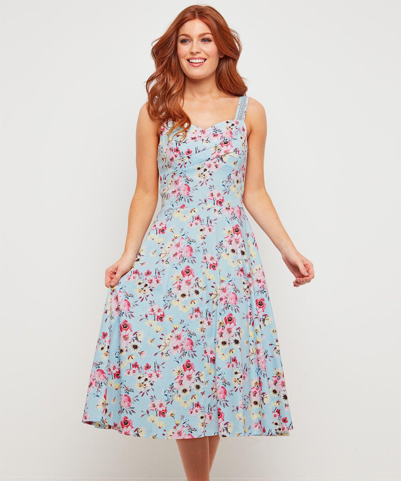 c1e4fc916dcc Joe Browns Svetlo-modré kvetinové šaty - JoyStore.sk