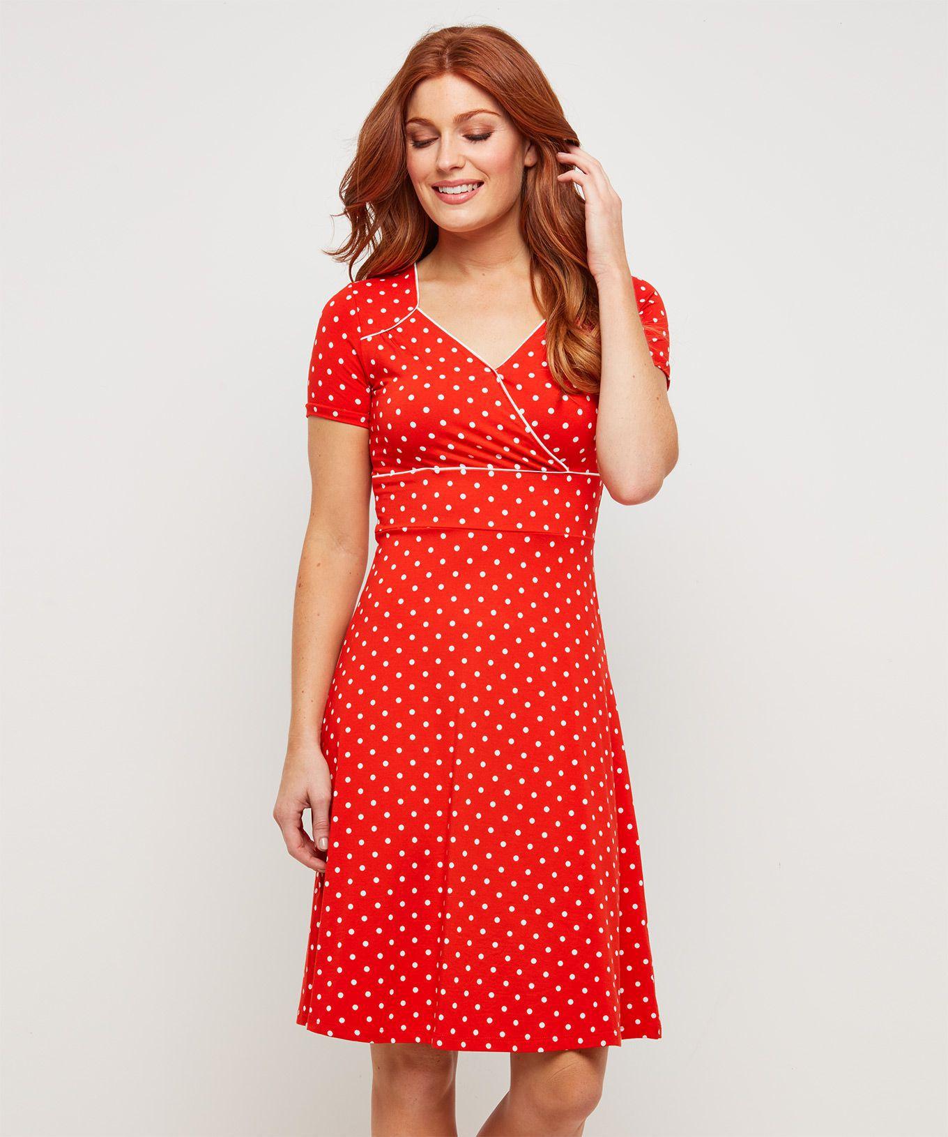 584b60140914 Joe Browns Červené bodkované šaty - JoyStore.sk