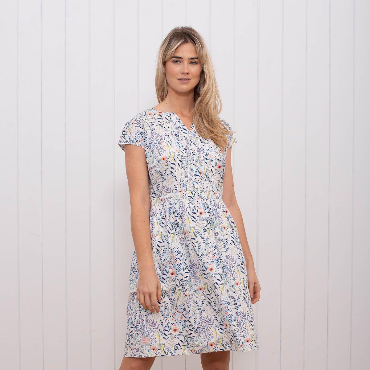 731f620e6eeb Brakeburn Biele letné šaty s potlačou kvetov - JoyStore.sk