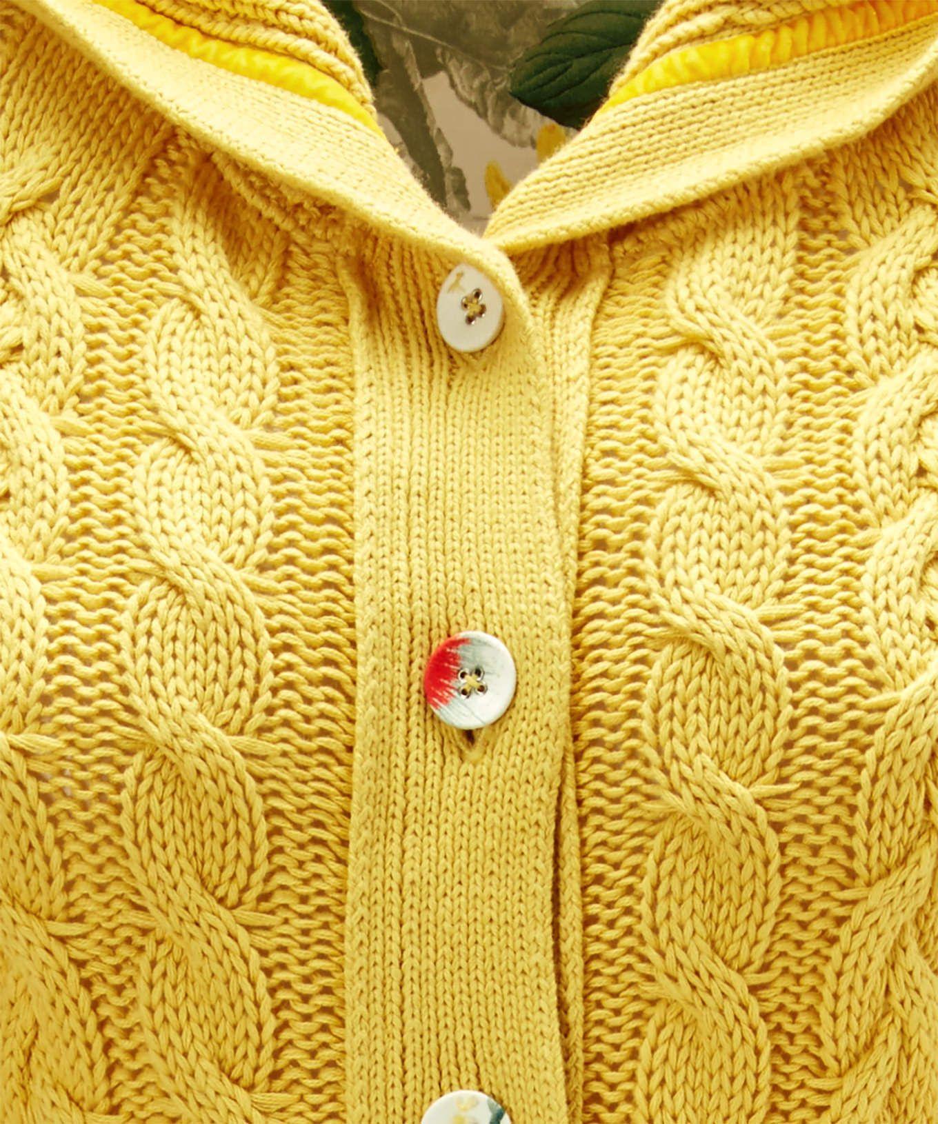 c54465d9ff9b Joe Browns žltý kardigan s kapucňou - JoyStore.sk