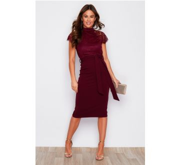 Girl in Mind Lyla Midi Dress Berry