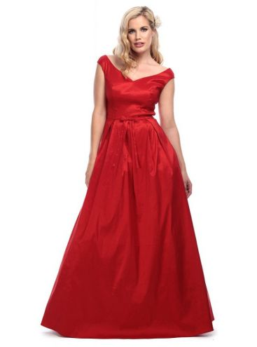 Vintage Miss Scarlet Maxi Dress