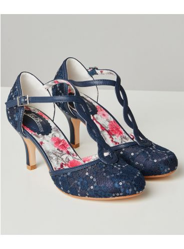 Joe Browns Moonlit Lace T-Bar Shoes