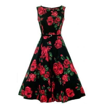 325b27e7f95e Lady Vintage Šaty Hepburn s červenými Ružami - JoyStore.sk