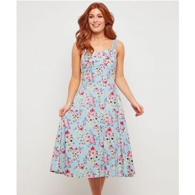 702f3ba76aed Joe Browns Svetlo-modré kvetinové šaty - JoyStore.sk